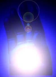 Qui01 Mã de Buda neon azul 2