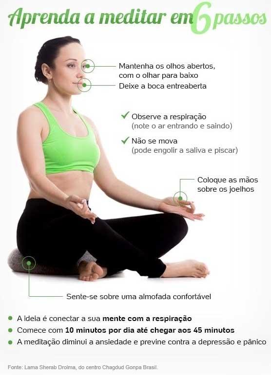 Aprenda a medita em 6 passos